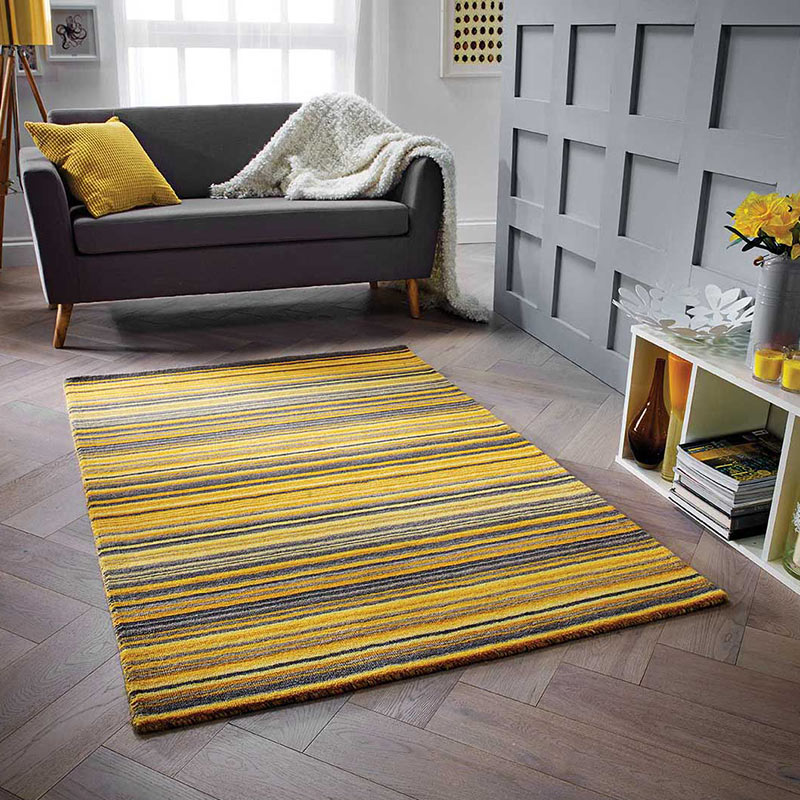 Carter Rug Ochre Stripe