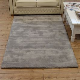 Aran Rug Feather Grey Wool