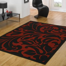 Barbara Red Black Rug