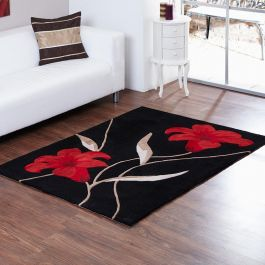 Black Red Lawrance Rug