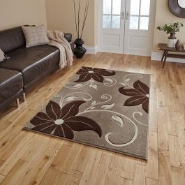 Bloom 15 Beige Brown Rug