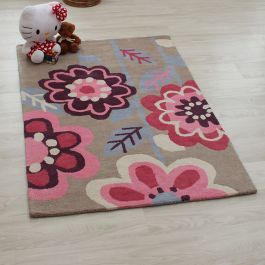 Candy Flowers Kids Rug