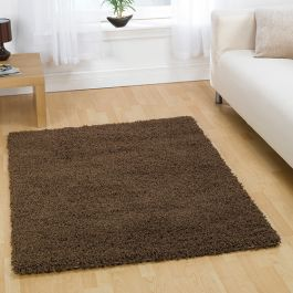 Brown Shaggy Rugs UK Mix