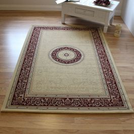 Classic Style Noble Rug Red Frame