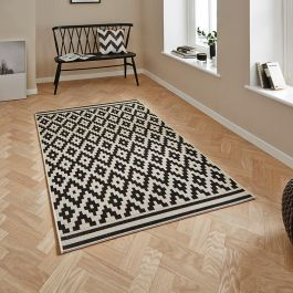 Cottage Wool Black Rug