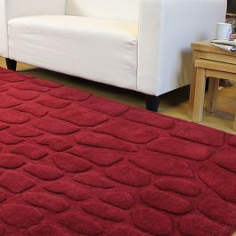 Crocodile Wool Red Rug