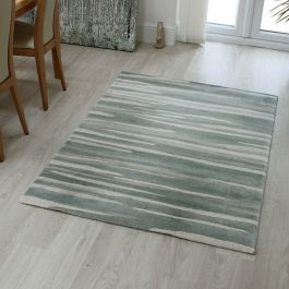 Echo Rug EC04 Broken Stripe Aqua