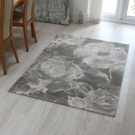 Echo Rug EC07 Water Floral Taupe