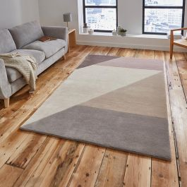 Elements EL83 Beige/Peach Wool Rug