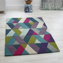 Funky Chevron Blue Green Rugs