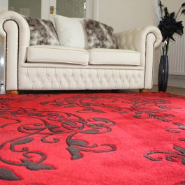 Milano Floral Red Rug