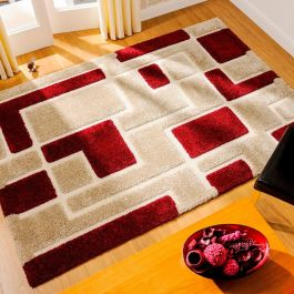 Imperial 3D Rug Red Beige