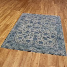 Light Blue Large Aqua Silk Rug