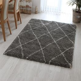 Logan Rug Diamond Grey Ivory