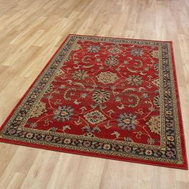 M Ziegler Rug Red Black