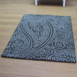 Mendhi Grey Wool Rug