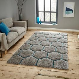 Noble House NH30782 Grey Blue Rug