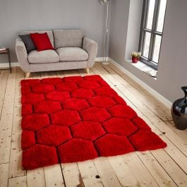 Noble House NH30782 Red Black Rug
