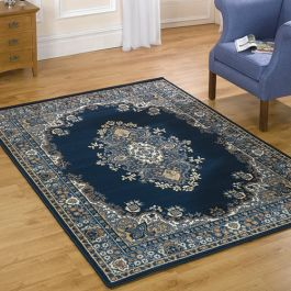 Buy Nova Navy Rug Period Style Budget Cost Land Of Rugs
