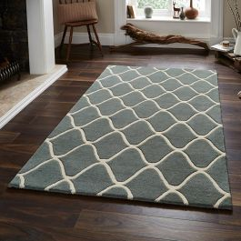 OEL 65 Blue Wool Rug
