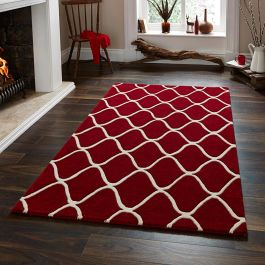 OEL 65 Red Wool Rug