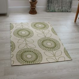 Onix Rug Scandi Flower Green