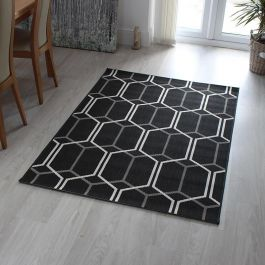Outdoor Rug Patio Charcoal Geo