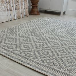 Outdoor Rug Patio Diamond Grey