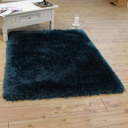 Buy Pearl Shaggy Rug Silky Teal Colour Land Of Rugs