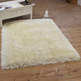Pearl Shaggy Rug Silky White Colour