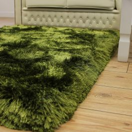 Plush Rugs Green Ultra Thick