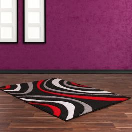 Rap C Black Red Rug