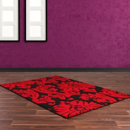 Rap D Black Red Rug