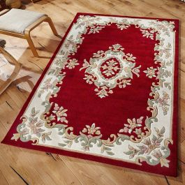 Royal Aubusson Red Rug