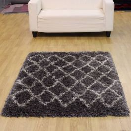Silver ultra uhick shaggy rug