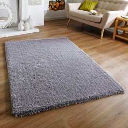 Softness Grey Fluffy Rug