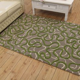 Squiggle Rug Green