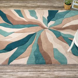 Teal Splinter Rug