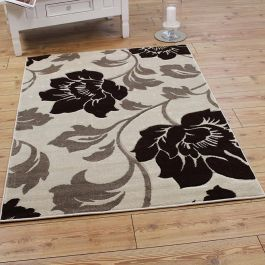 VG31 Beige Brown Floral Rug