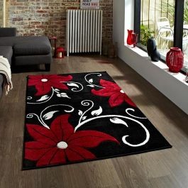 Verona OC15 Black Red Rug