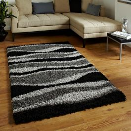 Vista J241 Black Grey Rug