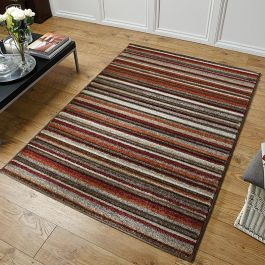 Viva 2525N Rug Stripes Terra Red