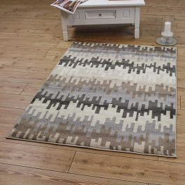 Vogue Rug Abstract Grey Brown