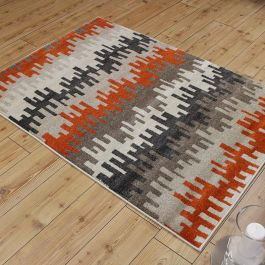 Vogue Rug Abstract Rust Grey