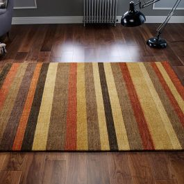 Winslow Rust Corn Stripe Rug