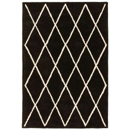 Albany Rug Diamond Black Wool