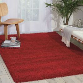 Amore Red Shaggy Rug