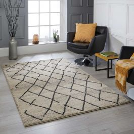 Atlas 5502 W Cream Tribal Rug