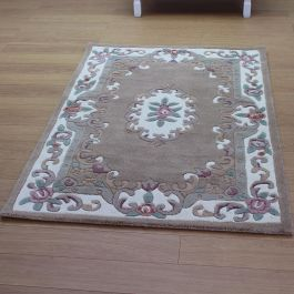 Aubusson Classic Fawn Wool Rug
