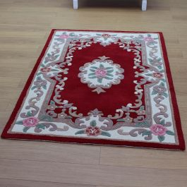Aubusson Classic Red Wool Rug